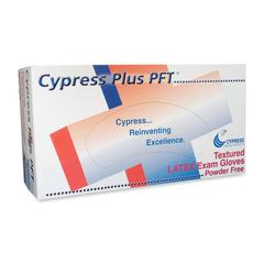 Cypress Plus Powder Free Textured Latex Examination Gloves - Large Size - Latex - Powder-free, Textured - For Healthcare Working - 100 / Box