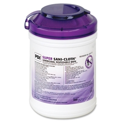 "Surface Disinfectant Wipe - 6"" x 6.75"" - White - Disinfectant, Anti-bacterial, Disposable, Latex-free, Bleach-free - 160 Sheets Per Canister - 160 / Each"