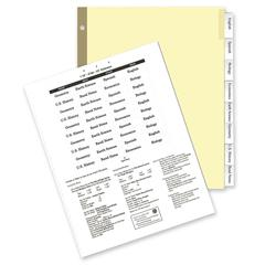 "Kleer-Fax Deluxe Hi-Tech Insertable Index Divider - 8 - 8.50"" Divider Width x 11"" Divider Length - Letter - 3 Hole Punched - Canary Mylar Tab - 8 / Set"