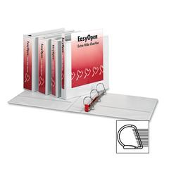 "Cardinal EasyOpen Extra Wide Slant-D Ring Binders - 2"" Binder Capacity - Letter - 8 1/2"" x 11"" Sheet Size - 525 Sheet Capacity - 2 1/2"" Spine Width - 3 x D-Ring Fastener(s) - 2 Front & Back Pocket(s)"