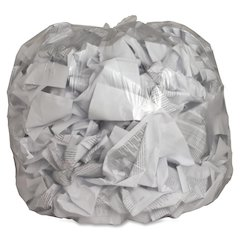 "Genuine Joe Clear Trash Can Liners - 45 gal - 40"" Width x 46"" Length x 0.60 mil (15 Micron) Thickness - Low Density - Clear - Film - 250/Carton - Multipurpose"