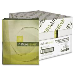 "Nature Saver Recycled Paper - Legal - 8.50"" x 14"" - 20 lb Basis Weight - Recycled - 30% Recycled Content - 92 Brightness - 5000 / Carton - White"
