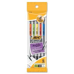 BIC .7mm Mechanical Pencils - #2 Lead Degree (Hardness) - 0.7 mm Lead Diameter - 5 / Pack