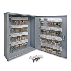 "Sparco All Steel Hook Design Key Cabinet - 16.5"" x 4.9"" x 20.1"" - Security Lock - Gray - Steel"