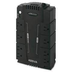 Compucessory 425VA Standby UPS - 425 VA/230 W - 120 V AC - 6 Receptacle(s) - Sag, Surge, Spike, Brownout
