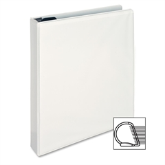 "Sparco Locking D-Ring View Binders - 1"" Binder Capacity - Letter - 8 1/2"" x 11"" Sheet Size - D-Ring Fastener - 4 Inside Front & Back Pocket(s) - Polypropylene - White - 1 Each"