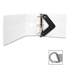 "Sparco Locking D-Ring View Binders - 5"" Binder Capacity - Letter - 8 1/2"" x 11"" Sheet Size - D-Ring Fastener - 4 Inside Front & Back Pocket(s) - Polypropylene - White - Recycled - 1 Each"