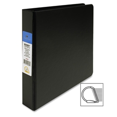 "Sparco Slant-D Locking Ring Binder - 1 1/2"" Binder Capacity - Letter - 8 1/2"" x 11"" Sheet Size - D-Ring Fastener - Inside Front & Back Pocket(s) - Polypropylene - Black - 1 Each"