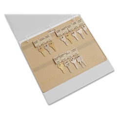 "MMF Key Panel - 11.5"" Width - 250 mil Thickness - 22 x Key Capacity - Ring Binder - Rectangular - Beige - Plastic - 1 Each"