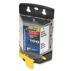 """PHC Pacific Standard Quick Blade Dispenser - 2.37"""" Length x 25 mil Thickness - Wall Mountable - Plastic - 100 / Pack - Yellow"""