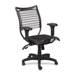 "Balt Banded Managerial Mid-back Chair - Polyester Black Seat - 5-star Base - Black - 19"" Seat Width x 19"" Seat Depth - 19"" Width x 19"" Depth x 38.5"" Height"