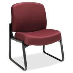 "HON Pyramid 3500 Series Armless Guest Chair - Polyester Red Seat - 28.3"" x 27"" x 35"" Overall Dimension"
