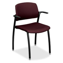 "HON Guest Arm Chair - Polyester Red Seat - 23.3"" x 21.5"" x 33"" Overall Dimension"