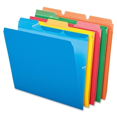 "ReadyTab File Folder - Letter - 8 1/2"" x 11"" Sheet Size - 1/3 Tab Cut - Assorted Position Tab Location - Assorted - 50 / Pack"