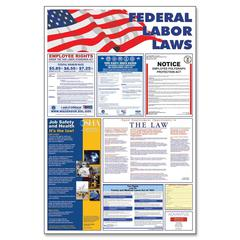 """Federal Labor Law Poster - 24"""" Width x 36"""" Height - Multicolor"""