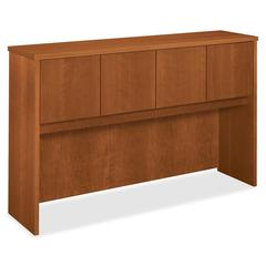 "BW Series Hutch - 60"" Width x 14.6"" Depth x 37.1"" Height - 4 Door(s) - 1 Shelve(s) - Beaded Edge - Wood, Wood - Bourbon Cherry"