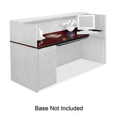 "Mayline Corsica Veneer Series Reception Desk - 72"" x 36"" x 29.5"" - Beveled Edge - Material: Hardwood, Wood - Finish: Mahogany, Veneer"