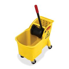 "Rubbermaid 31 Quart Mop Bucket Combination - 31 quart - 32.3"" x 22.6"" x 13.3"" - Yellow"