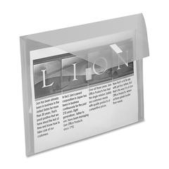 "Lion Weatherproof Poly Envelopes - Letter - 8 1/2"" x 11"" Sheet Size - 2 Pocket(s) - Poly - Clear - Recycled - 1 Each"