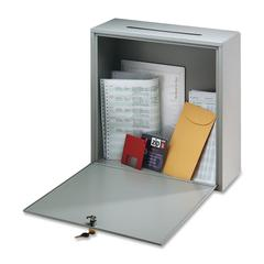 """Interoffice Mailbox - External Dimensions: 12"""" Width x 3"""" Depth x 10"""" Height - Hinged Closure - Steel - Platinum - For Office - 1 Each"""