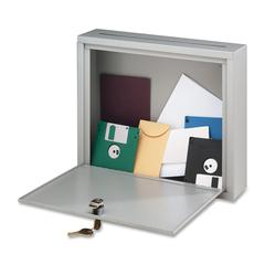 "Buddy Interoffice Mailbox - External Dimensions: 18"" Width x 7"" Depth x 18"" Height - Hinged Closure - Platinum - For Office - Recycled - 1 Each"