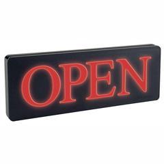 """Headline Lighted Open Sign - 1 Each - Open Print/Message - 13.3"""" Width x 6"""" Height - Rectangular Shape - Black"""
