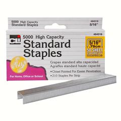 "Standard Chisel-point Staple - 210 Per Strip - Standard - 5/16"" Leg - 1/2"" Crown - for Paper - Chisel Point - 1 / Box"