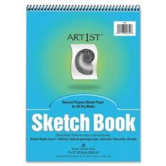 "Art1st Sketch Book - 30 Sheets - Spiral - 94 g/m² Grammage - 9"" x 12"" - White Paper - Recycled - 30 / Pad"