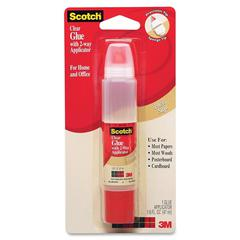 Scotch 2-Way Applicator Clear Glue Stick - 1.600 oz - 1 Each - Clear