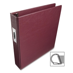 "Wilson Jones Single Touch D-Ring Binder - 2"" Binder Capacity - Letter - 8.50"" x 11"" Sheet Size - 540 Sheet Capacity - 3 x D-Ring Fastener(s) - 2 Back, Front Pocket(s) - Vinyl - Red - 1 Each"
