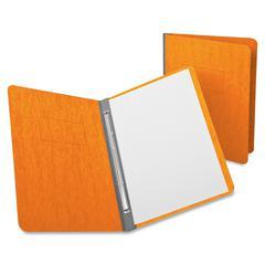 "Oxford Report Cover - 3"" Folder Capacity - Letter - 8 1/2"" x 11"" Sheet Size - 2 Fastener(s) - 20 pt. Folder Thickness - Pressguard - Tangerine - 1 / Each"