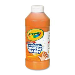 Crayola Washable Finger Paint - 16 fl oz - 1 / Each - Orange