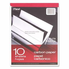 "Mead Carbon Paper Tablet - 8.50"" x 11"" - 1 / Each - Black"