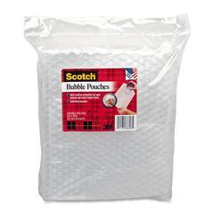 """Scotch Bubble Pouch - 8"""" Width x 10"""" Length - Tear Resistant, Puncture Resistant - Clear"""