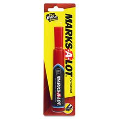 Avery Marks-A-Lot Regular Permanent Marker - 4.5 mm Point Size - Chisel Point Style - Red - 1 / Pack