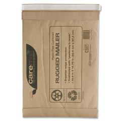 "Caremail Rugged Padded Mailer - Padded - #5 - 10.50"" Width x 16"" Length - Peel & Seal - Kraft - 25 / Pack - Kraft"