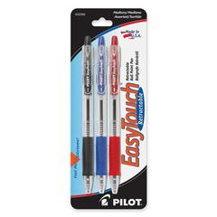 EasyTouch Retractable Ballpoint Pens - Medium Point Type - 1 mm Point Size - Refillable - Assorted - 3 / Pack
