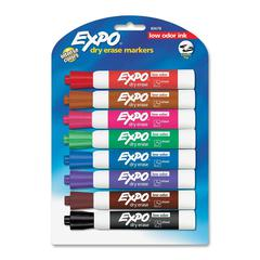 Expo Low-Odor Dry Erase Chisel Tip Markers - Chisel Point Style - Assorted - 8 / Pack