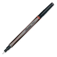Porous Point Pen - Fine Point Type - Red - Silver Barrel - 1 Each