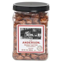 Anderson Peanut Butter Filled Pretzel Nuggets - Reusable Container - Peanut Butter - Jar - 1.50 lb - 1 Each
