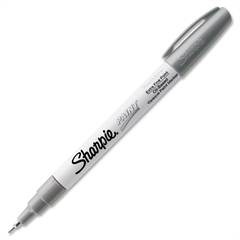 Extra Fine Oil Base Paint Marker - Metallic Silver Oil Based Ink - 1 Each