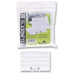 Durable Rotary File Refill Cards - Gray, White