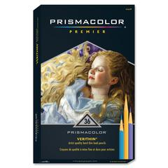Prismacolor Verithin Colored Pencil - Assorted Lead - 36 / Set