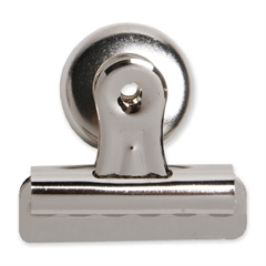 """Sparco Magnetic Back Bulldog Clip - No. 2 - 2.3"""" Width - 1 Pack - Silver - Steel"""