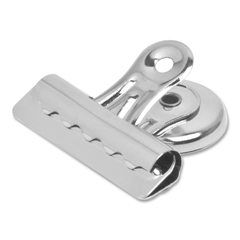 "Sparco Magnetic Grip Display Clips - 2"" Length x 2.3"" Width - 0.50"" Size Capacity - 12 / Box - Silver - Steel"
