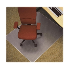 "Lorell Low Pile Rectangular Antistatic Chairmat - Carpeted Floor - 46"" Length x 60"" Width x 0.12"" Thickness - Rectangle - Clear"