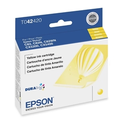 Epson Yellow Ink Cartridge - Inkjet - 420 Page - 1 Each