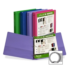 "185 Value Insertable Fashion I View Binder - 1"" Binder Capacity - Letter - 8 1/2"" x 11"" Sheet Size - 2 Internal Pocket(s) - Assorted - Recycled - 1 Each"