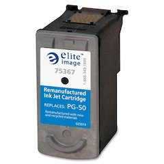 Elite Image Remanufactured Ink Cartridge - Alternative for Canon (PG-50) - Inkjet - 300 Pages - Black - 1 Each