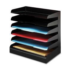 Buddy Desktop Organizer - 6 Tier(s) - Desktop - Black - Steel - 1Each
